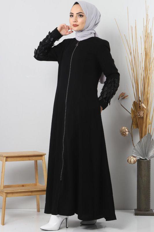 Abaya Large Sizes TSD2409 Black