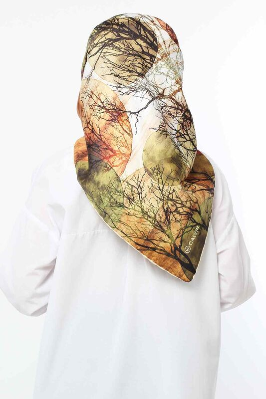 Autumn Patterned Scarf E006 Green