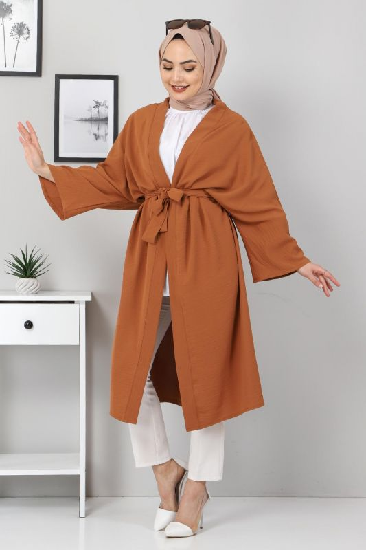 Beli Kuşaklı Kimono TSD3305 Taba