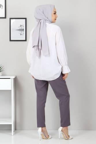 Beli Lastikli Pantolon TSD9905 Antrasit - Thumbnail