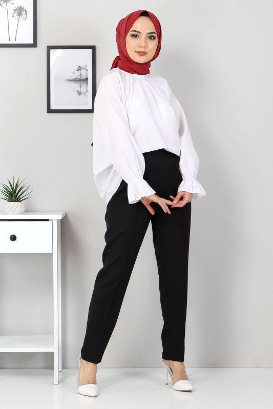 Beli Lastikli Pantolon TSD9905 Siyah