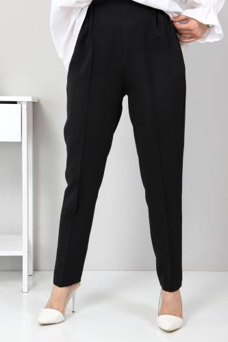 Beli Lastikli Pantolon TSD9905 Siyah - Thumbnail
