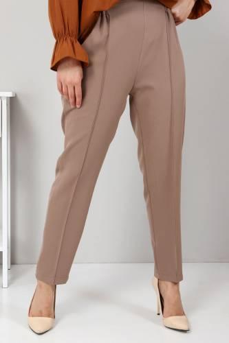 Tesettür Dünyası - Elastic Waist Trousers TSD9905 Dark Beige (1)