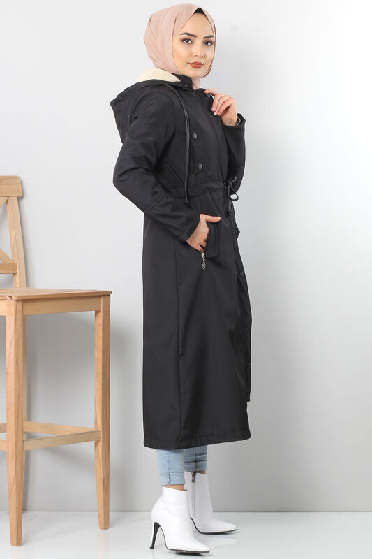 Belt Long fur Coat TSD2117 black