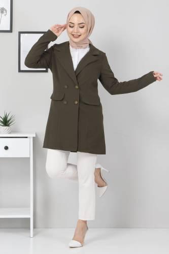 Tesettür Dünyası - Blazer Ceket TSD10747 Haki