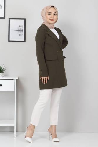 Tesettür Dünyası - Blazer Ceket TSD10747 Haki (1)