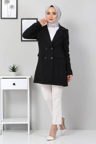Tesettür Dünyası - Blazer Jacket TSD10747 Black