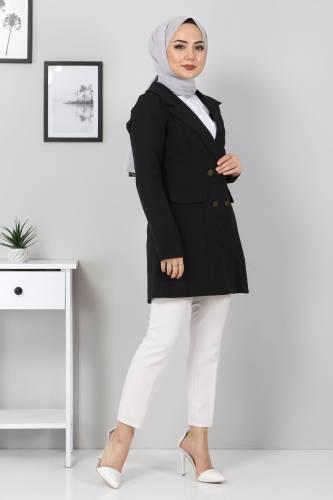 Tesettür Dünyası - Blazer Jacket TSD10747 Black (1)
