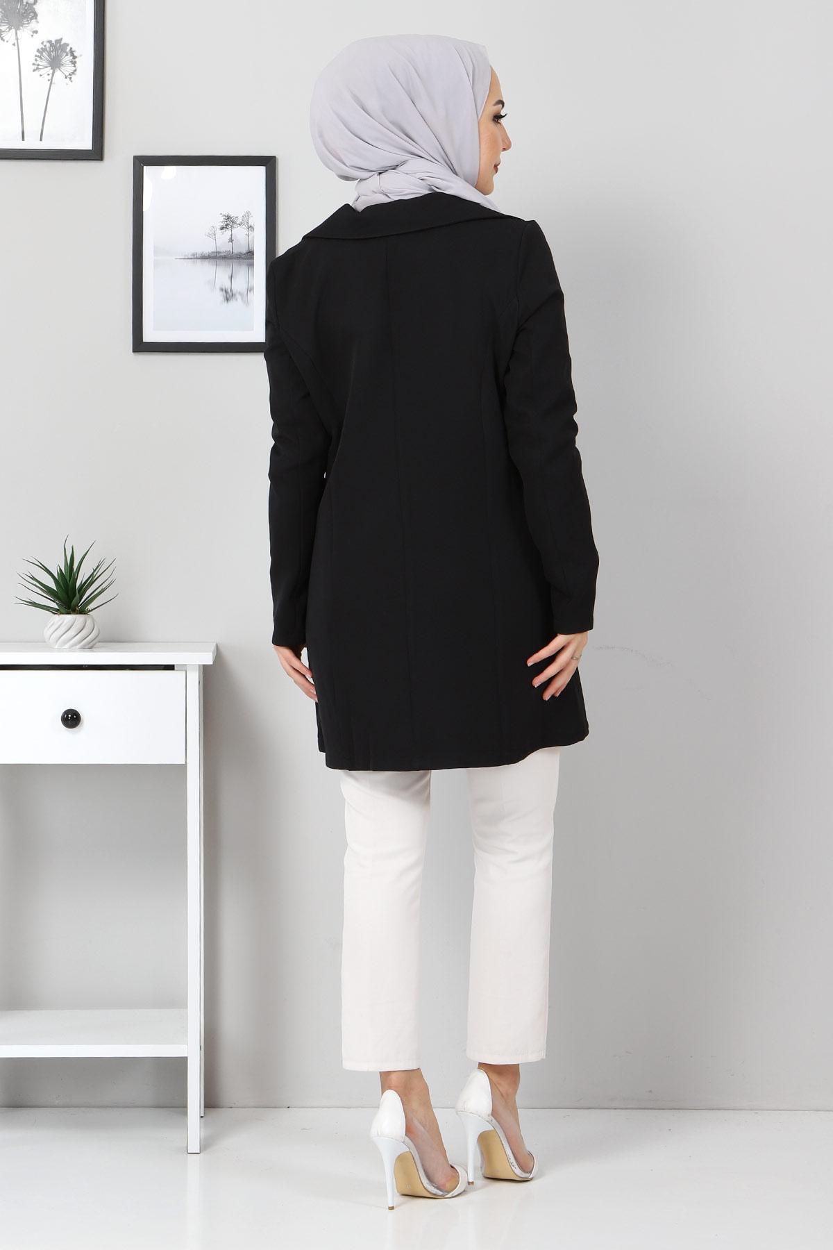 Blazer Ceket TSD10747 Siyah