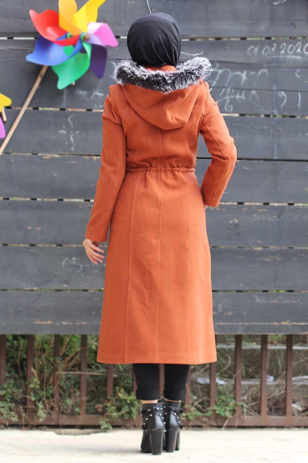 Buttoned Cachet Coat TSD9924 Orange