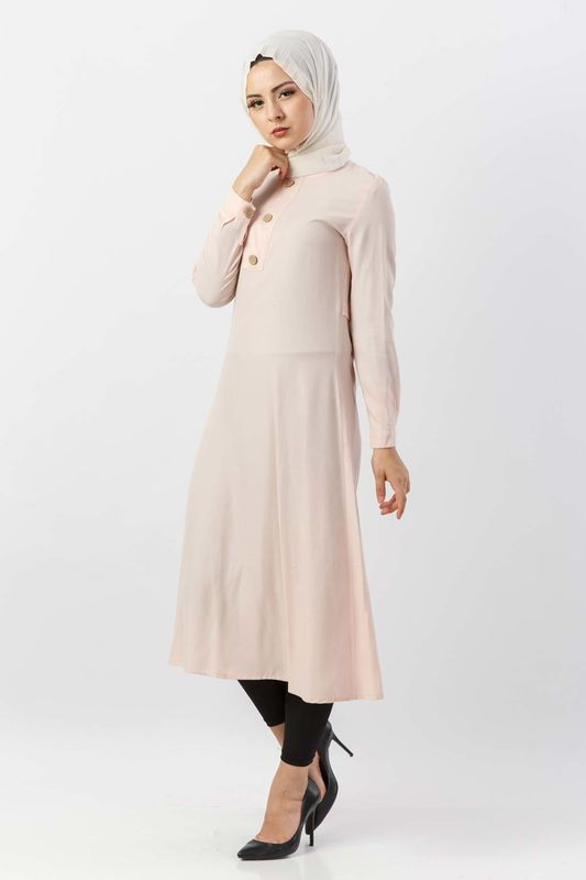 Buttoned Tunic TSD2028 light Pink