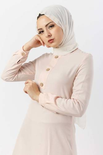 Buttoned Tunic TSD2028 light Pink - Thumbnail