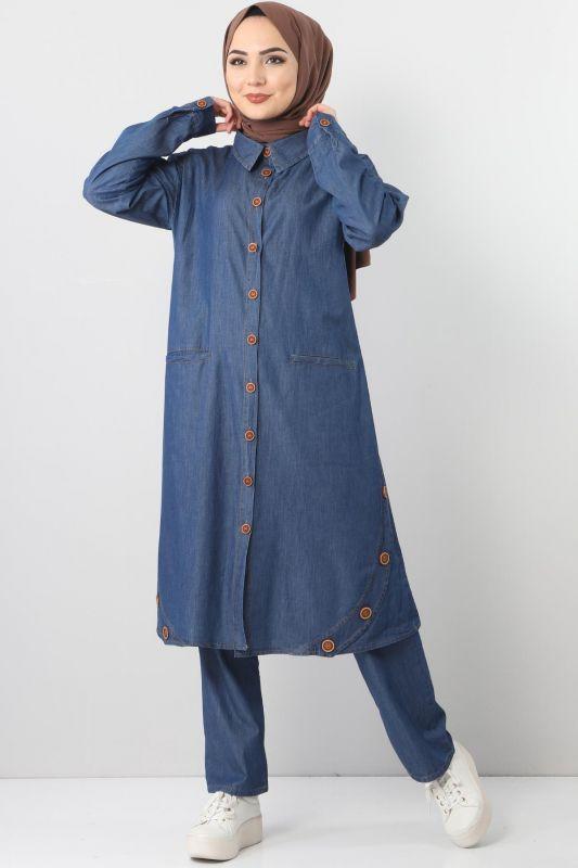 Cepli Kot İkili Takım TSD2457 Koyu Mavi