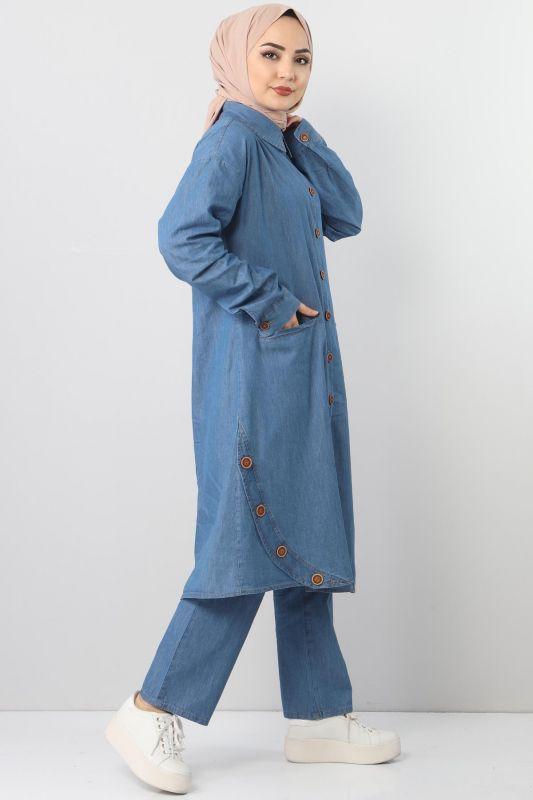 Cepli Kot İkili Takım TSD2457 Açık Mavi