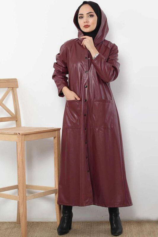 Claw Leather Cape TSD4152 Bordeaux