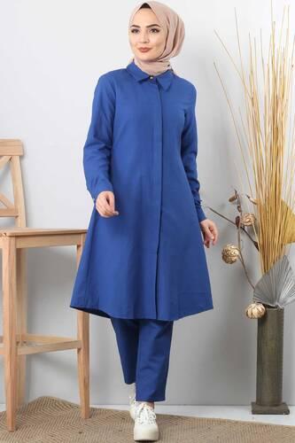 Tesettür Dünyası - Double hijab suit TSD0154 blue