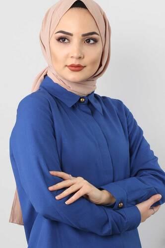 Tesettür Dünyası - Double hijab suit TSD0154 blue (1)