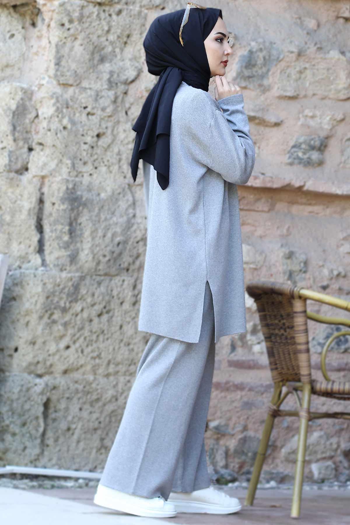 Double Knitwear Suit TSD1111 Gray
