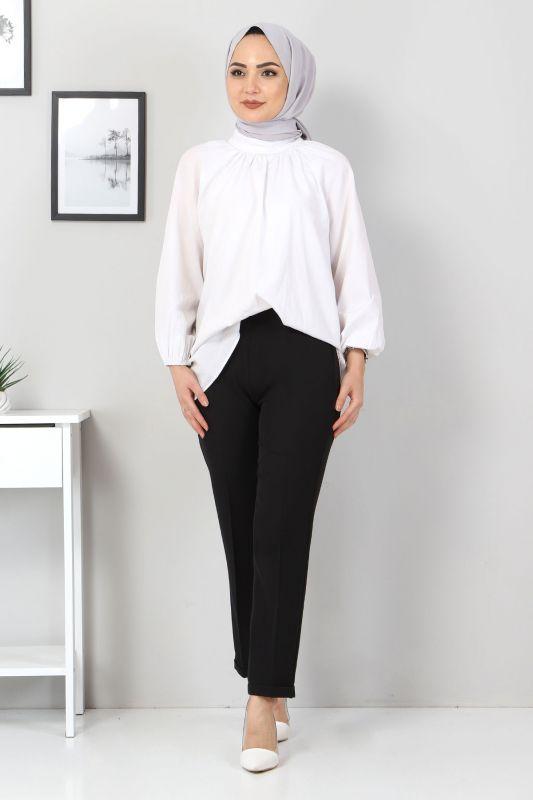 Duble Paça Pantolon TSD9909 Siyah
