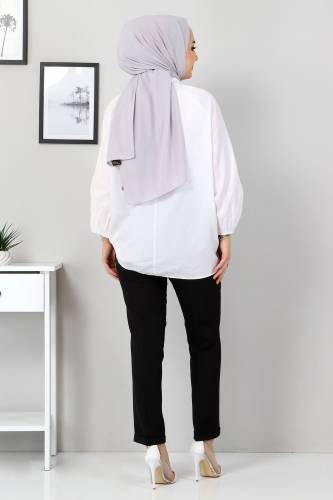 Duble Paça Pantolon TSD9909 Siyah - Thumbnail