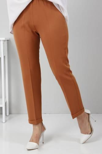 Duble Paça Pantolon TSD9909 Taba - Thumbnail