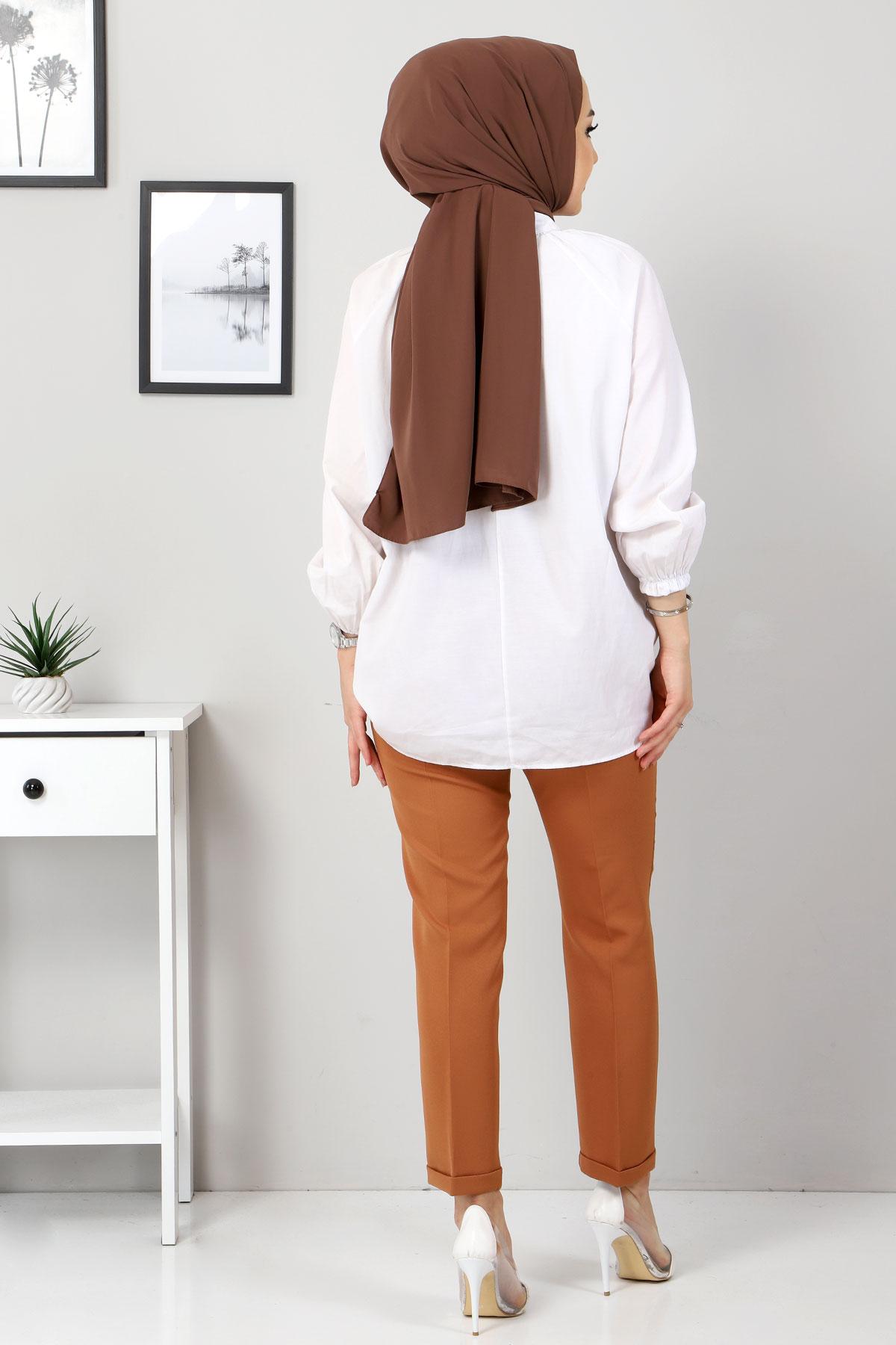 Duble Paça Pantolon TSD9909 Taba