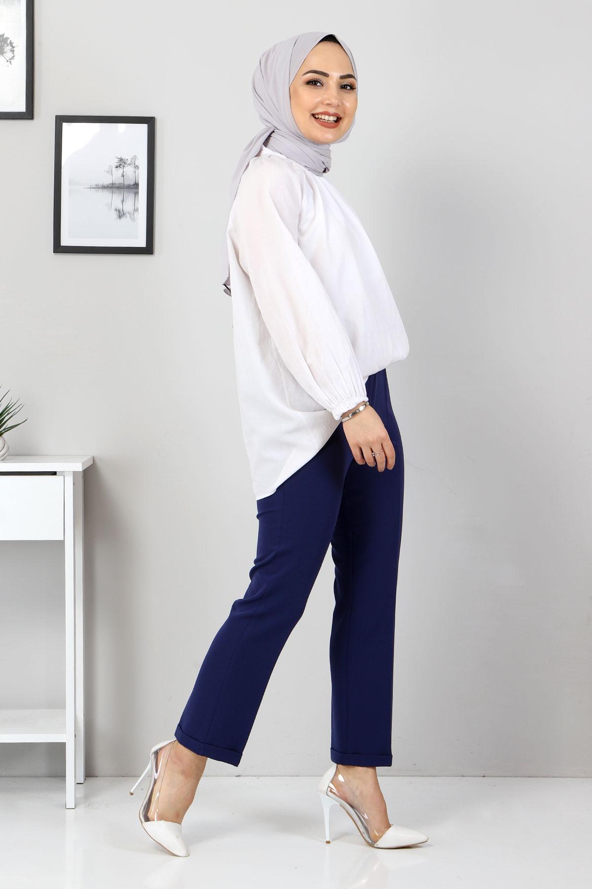 Duble Paça Pantolon TSD9909 İndigo