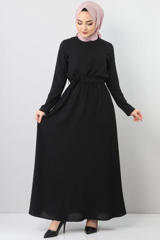 Elastic Waist Ayrobin Dress TSD5521 Black