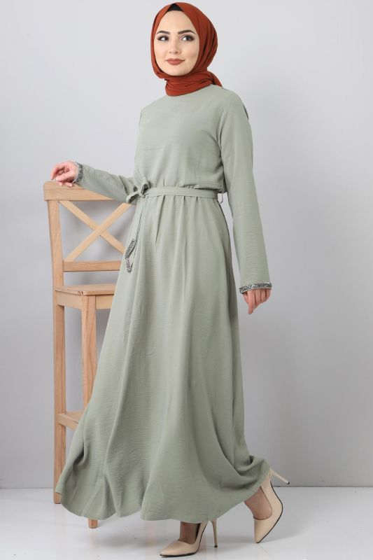 Embroidered Dress TSD6555 Green