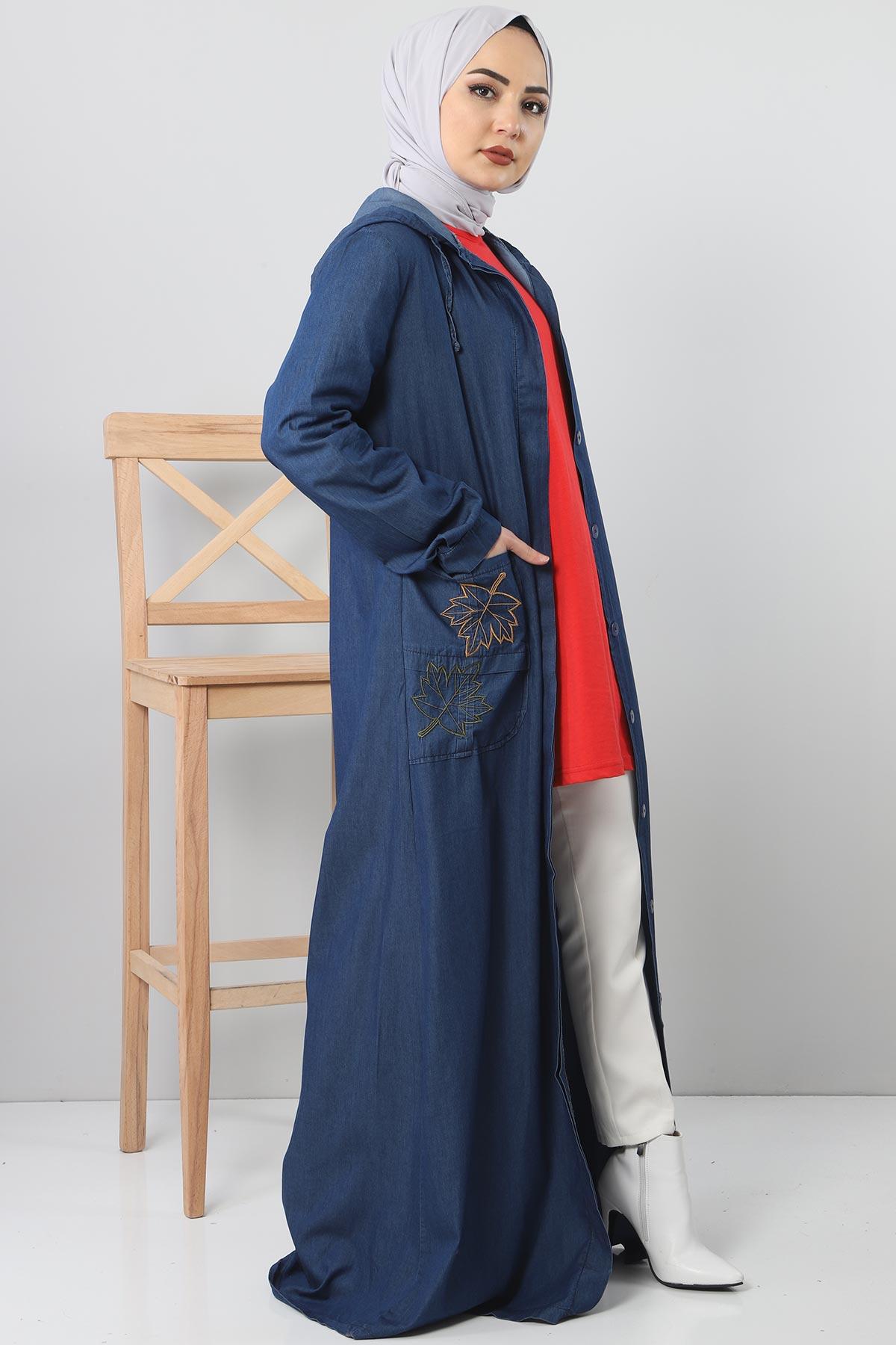 Embroidered Pocket Jeans Cap TSD 1131 Dark Blue