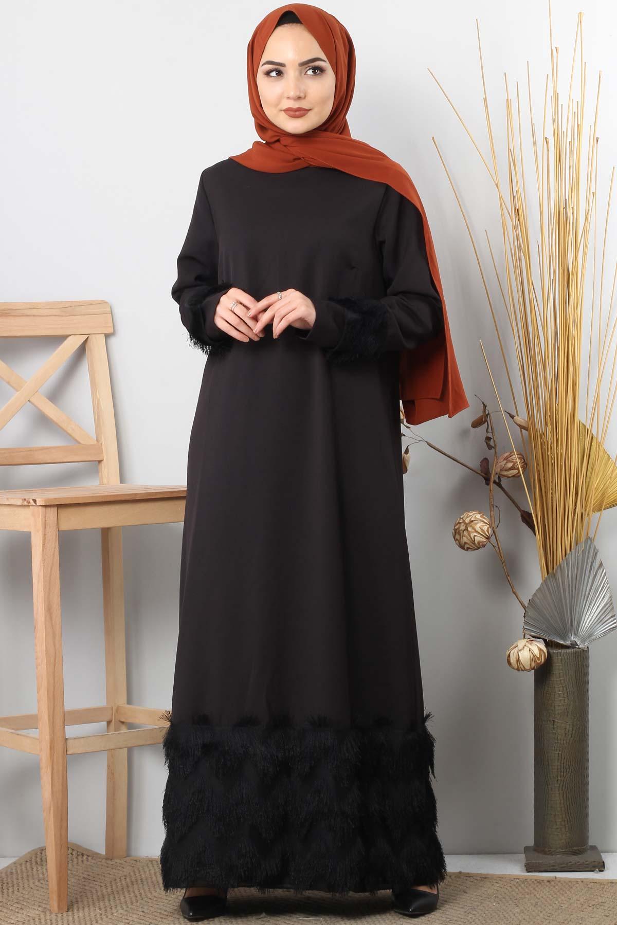 Fringe embellished dress TSD0963 black