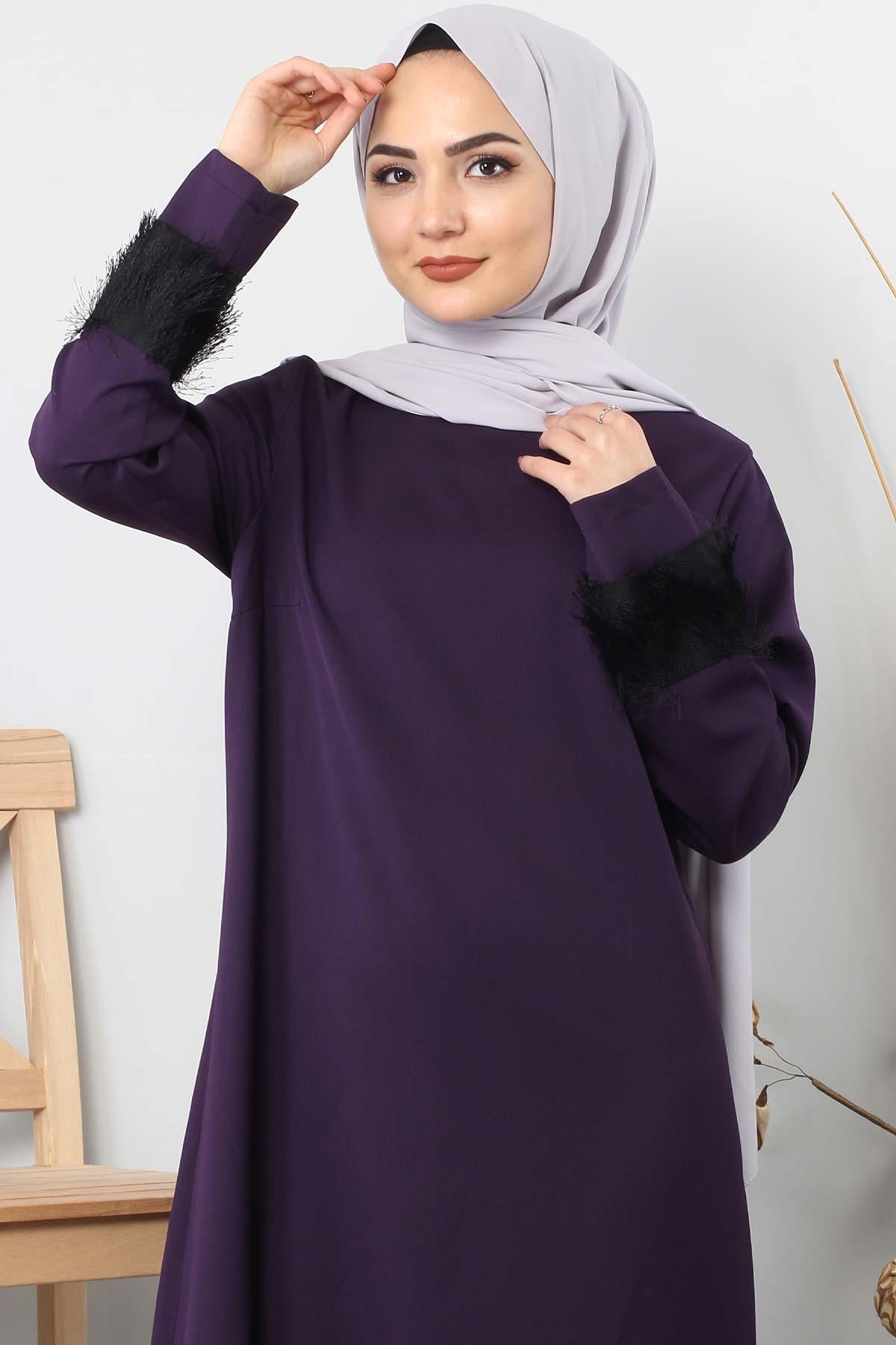 Fringe embellished dress TSD0963 Purple