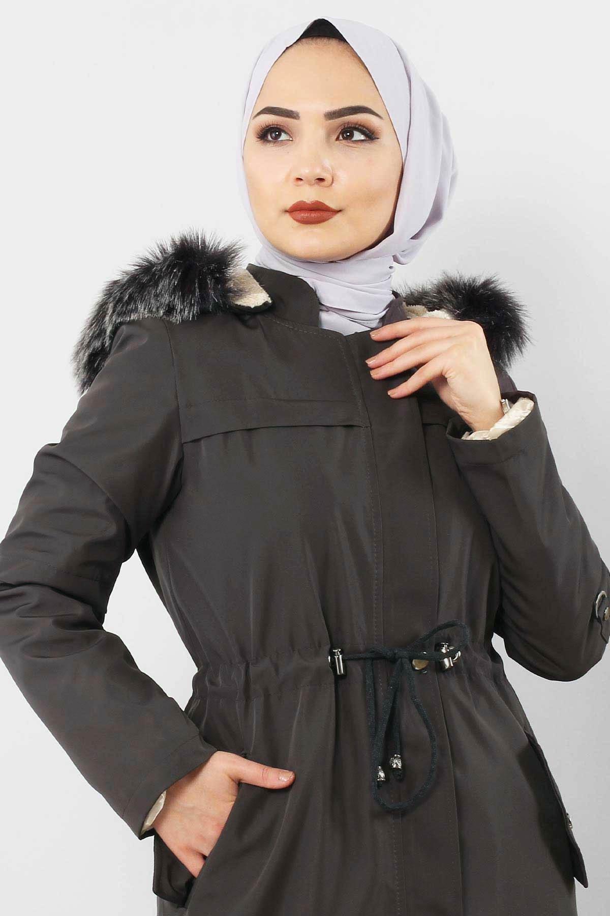Full Length Fur Coat TSD0883 Smoked