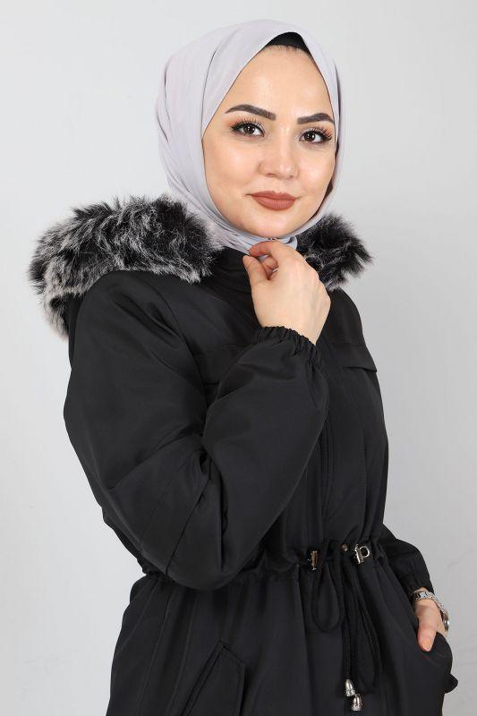 Fur Length Coat TSD0883 Black