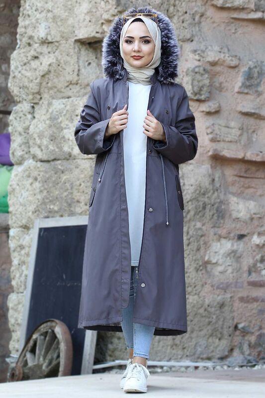 Furry Coat TSD1870 Smoked