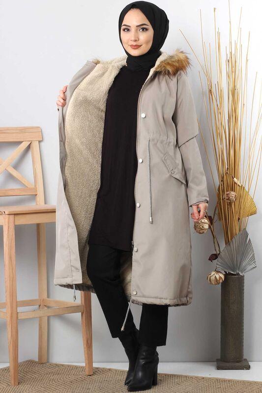Furry Coat TSD2389 Gray