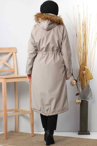 Furry Coat TSD2389 Gray - Thumbnail