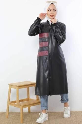 Garnili Deri Kap TSD4150 Siyah - Thumbnail