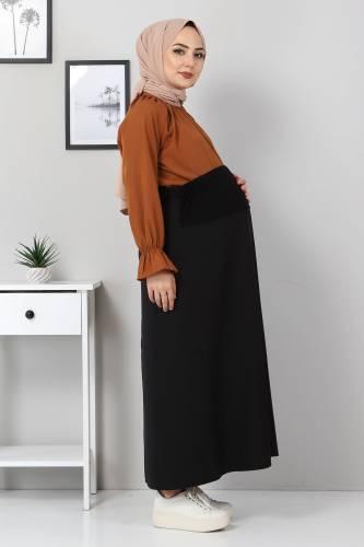 Hamile Eteği TSD1107 Siyah - Thumbnail