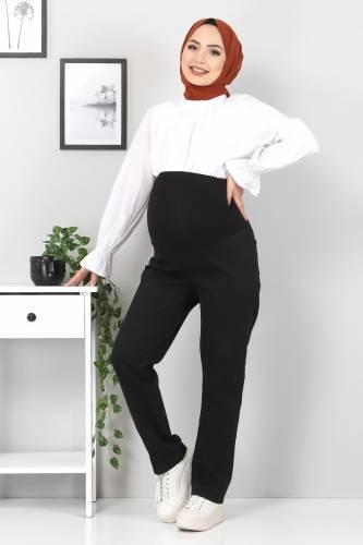 Tesettür Dünyası - Hamile Kot Pantolonu TSD22052 Siyah