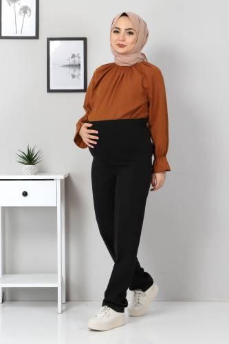 Tesettür Dünyası - Hamilelik Pantolonu TSD1102 Siyah