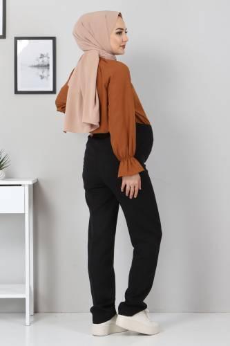 Hamilelik Pantolonu TSD1102 Siyah - Thumbnail
