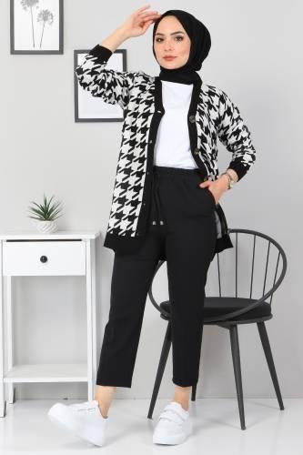 Tesettür Dünyası - Havuç Pantolon TSD9914 Siyah