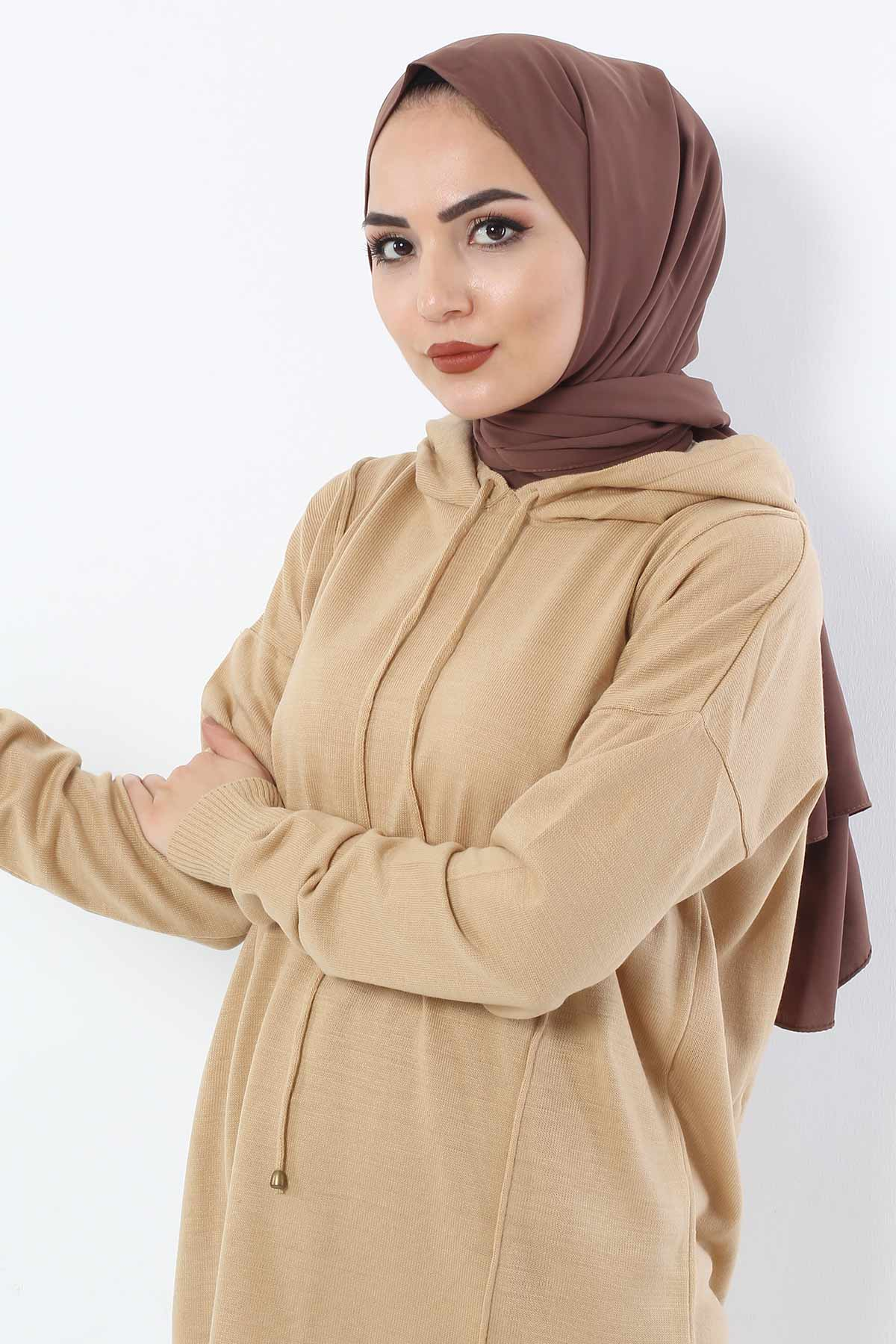Hooded Double Sweater Suit TSD2010 Camel