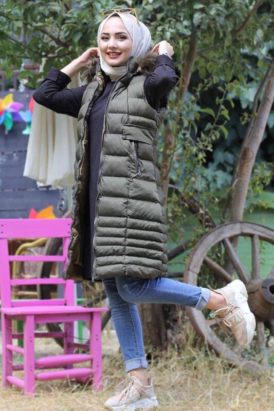 Hooded Inflatable Vest TSD2461 Khaki