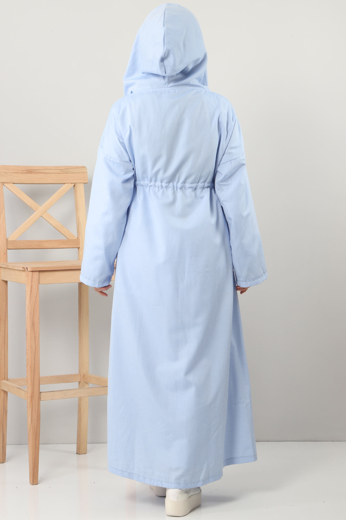 Hooded Long Sweater TSD3000 Light Blue