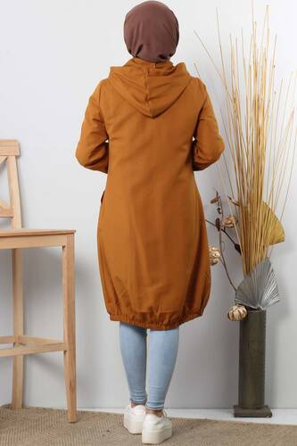 Hooded open jacket TSD1097 nude - Thumbnail