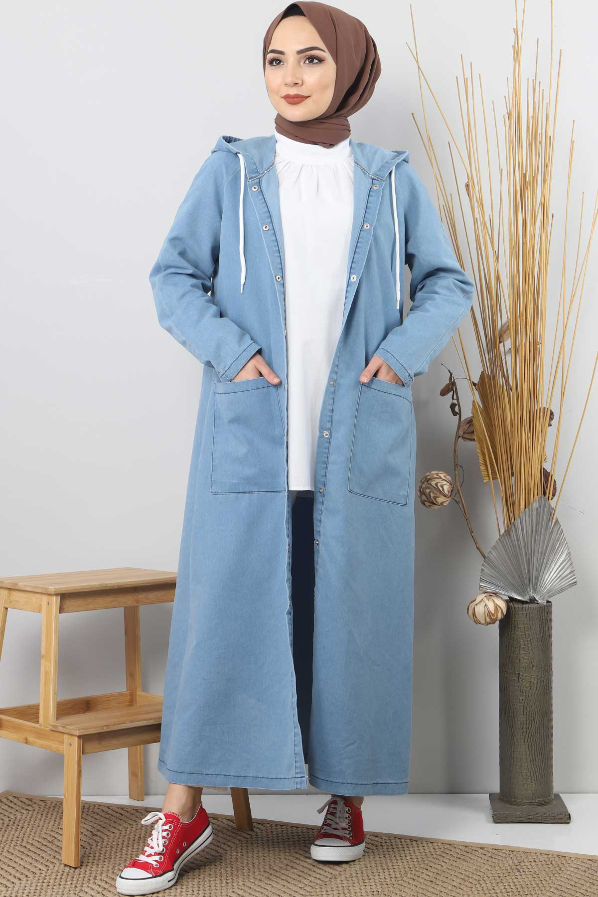 Jeans Long Blazer TSD4163 Light Blue