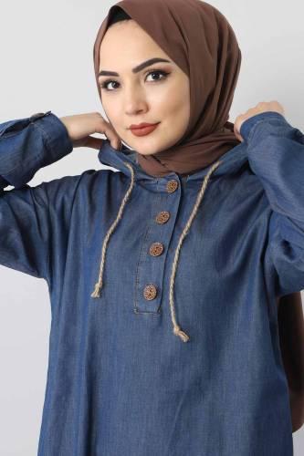 Jeans Suit TSD0454 dark Blue - Thumbnail