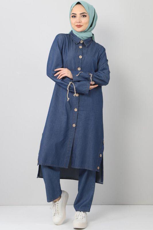 Jeans Suit TSD0454 dark Blue2